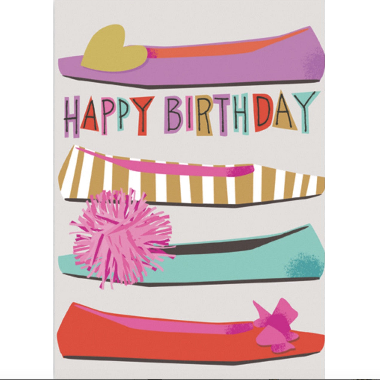 """Happy Birthday"" Shoes Card -  Stationary - Jannex Enterprises - Putti Fine Furnishings Toronto Canada"