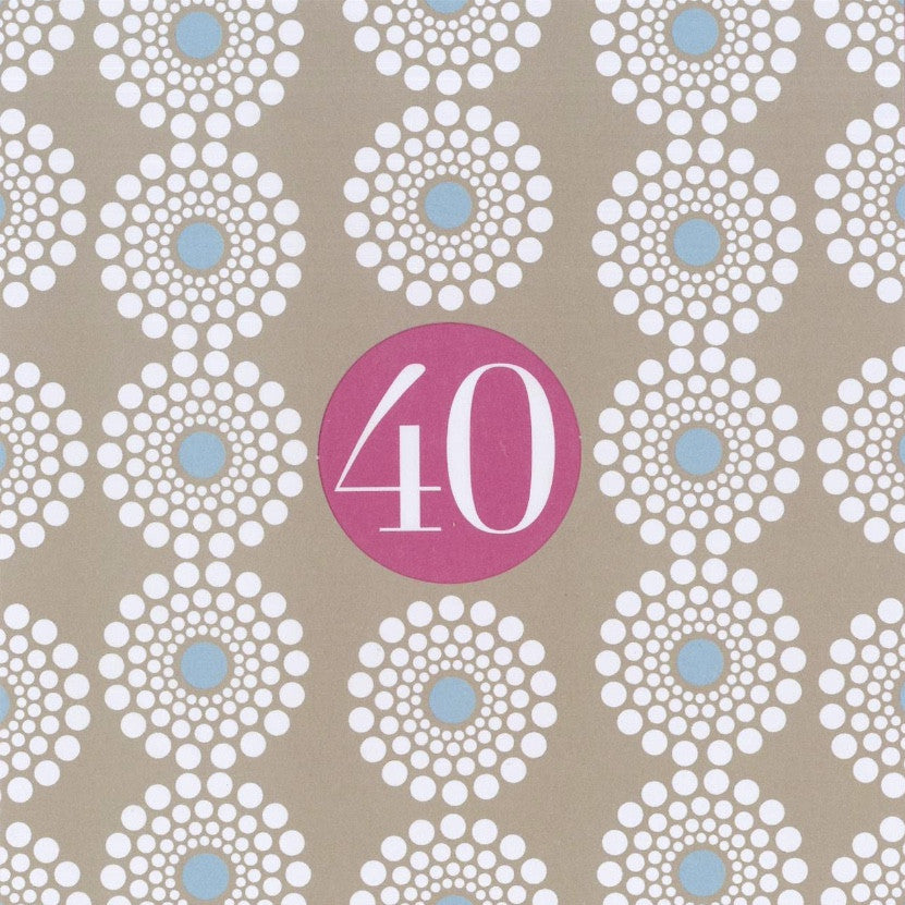 """40"" Birthday Die Cut Card"
