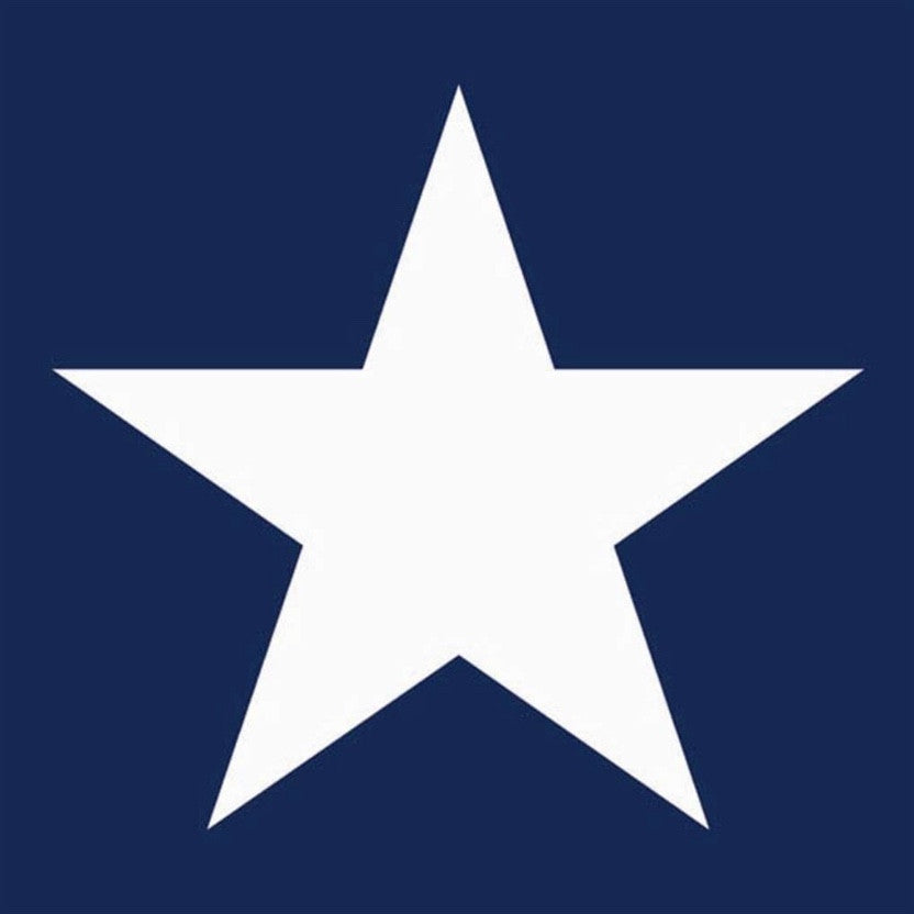 Navy Blue and White Star Luncheon Napkin