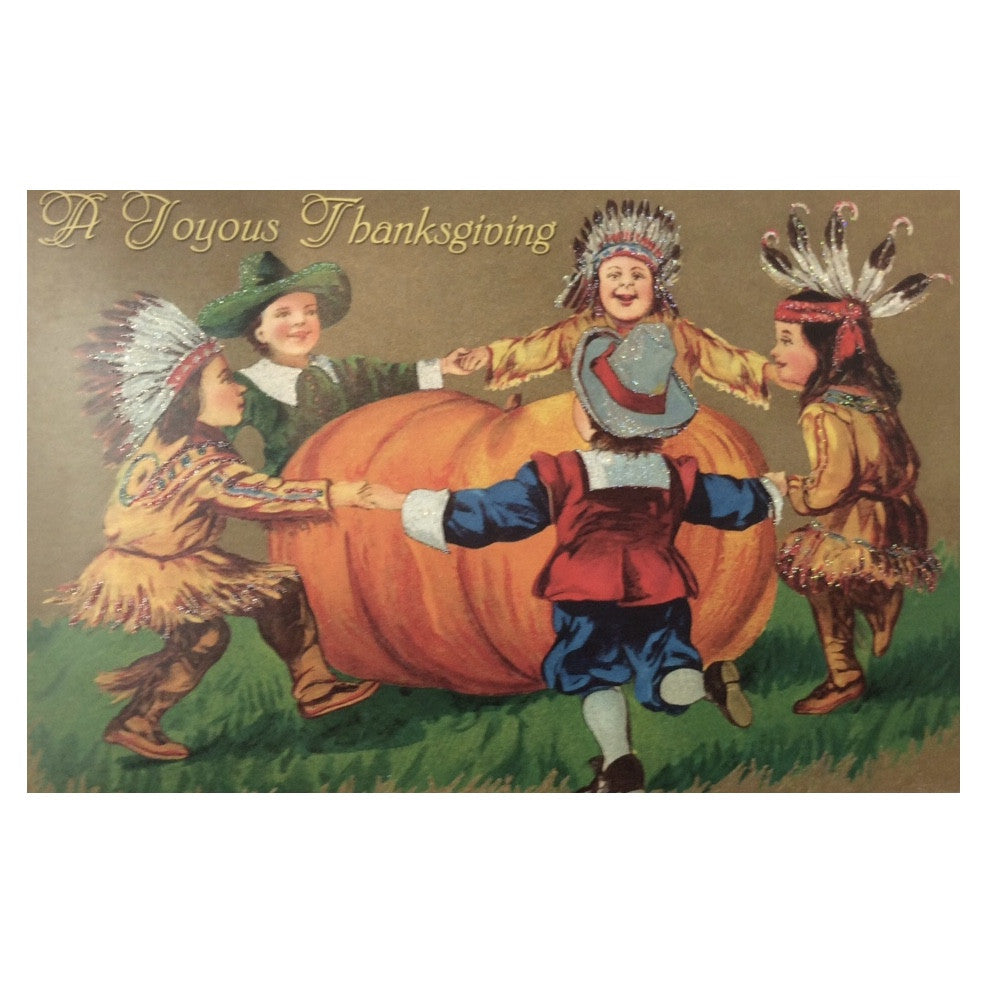 """A Joyus Thanksgiving"" Greeting Card-Thanksgiving-OWC-Old World Christmas-Putti Fine Furnishings"