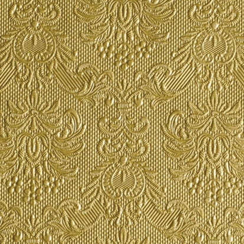 Elegance Gold Embossed Beverage Napkin