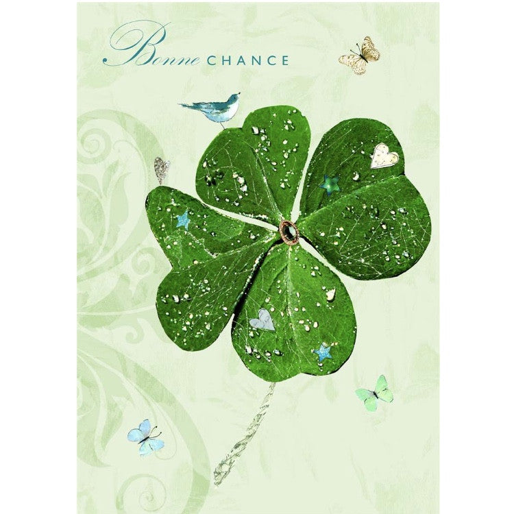 """Bonne Chance"" Greeting Card"