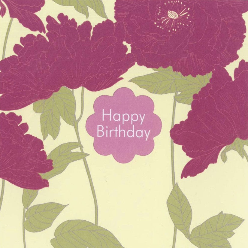 "Poppies ""Happy Birthday"" Card"