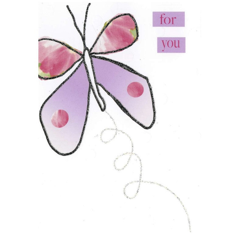 """For You"" Butterfly Greeting Card"