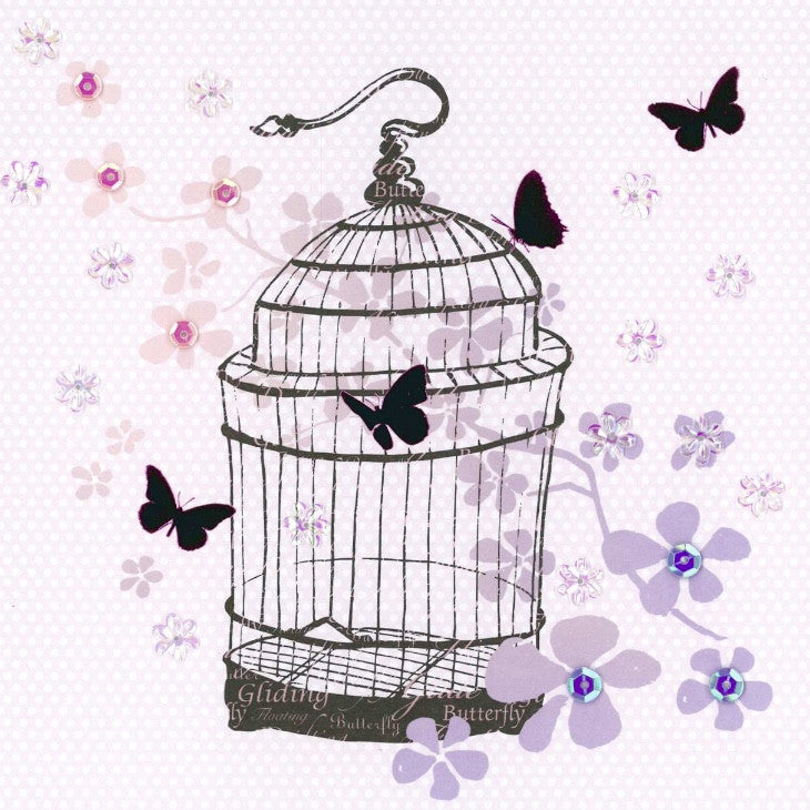 Bird Cage Greeting Card