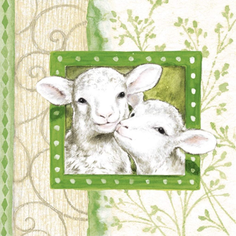 """Easter Lambs"" Beverage Napkins"