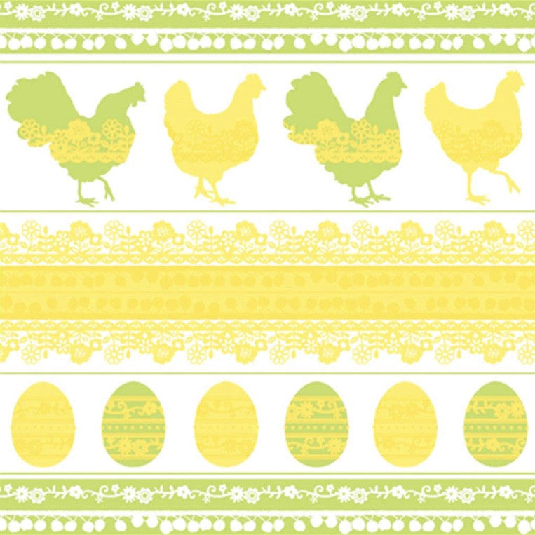 """Easter Silhouette"" Beverage Napkin, JE-Jannex Enterprises, Putti Fine Furnishings"