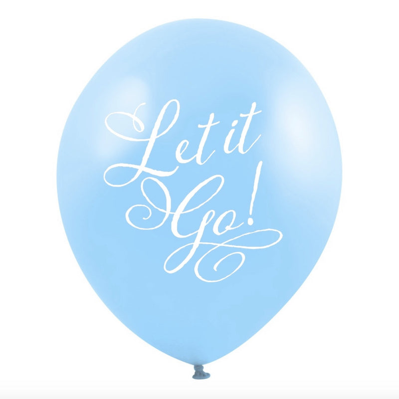 """Let it Go"" Balloon - Blue"