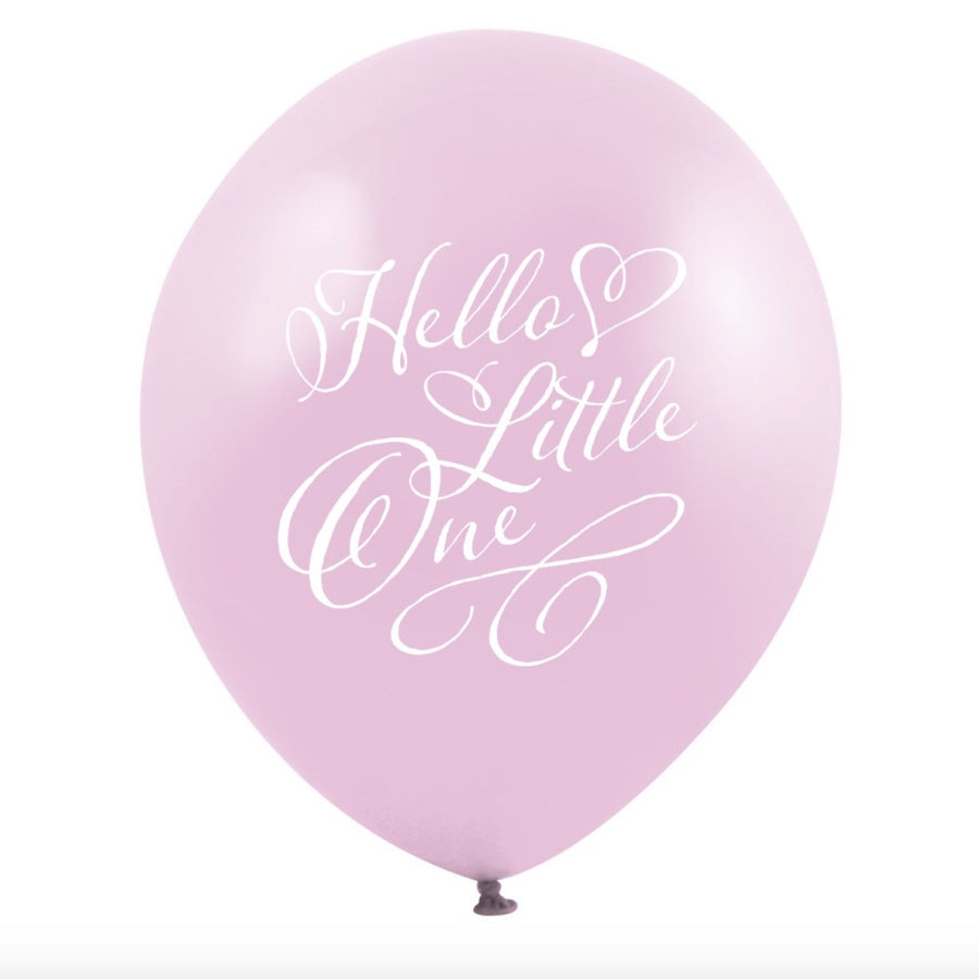 """Hello Little One"" Balloon - Pink"
