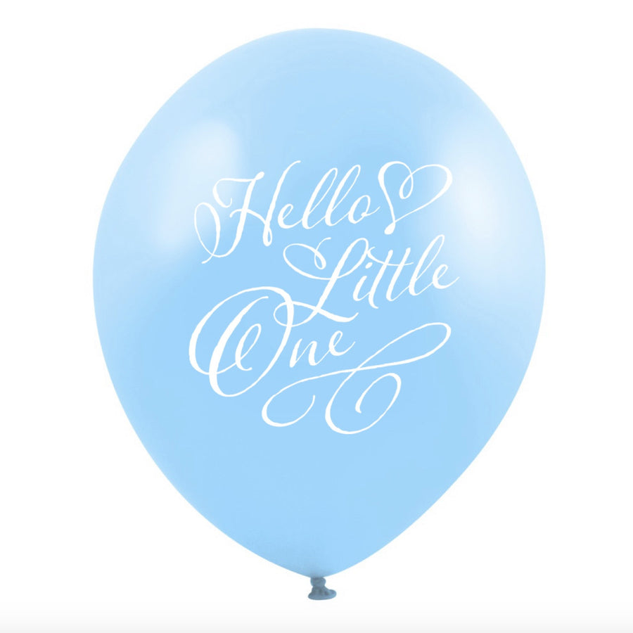 """Hello Little One"" Balloon - Blue"