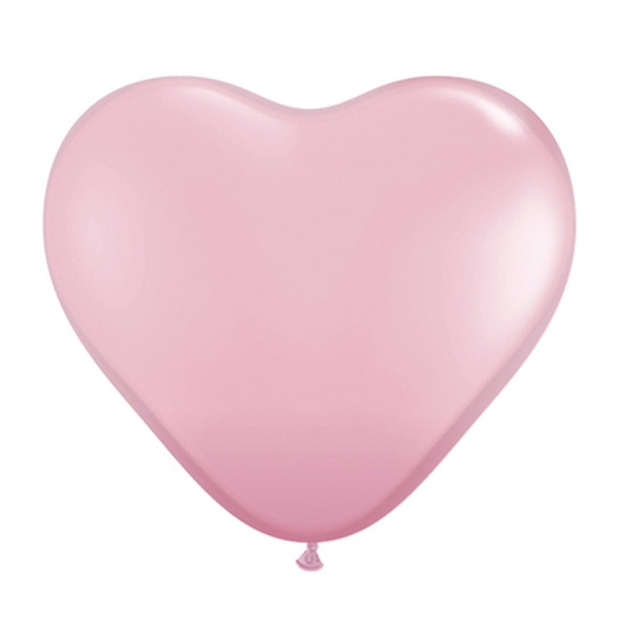 Pearlized Heart Balloons - Pink 15""