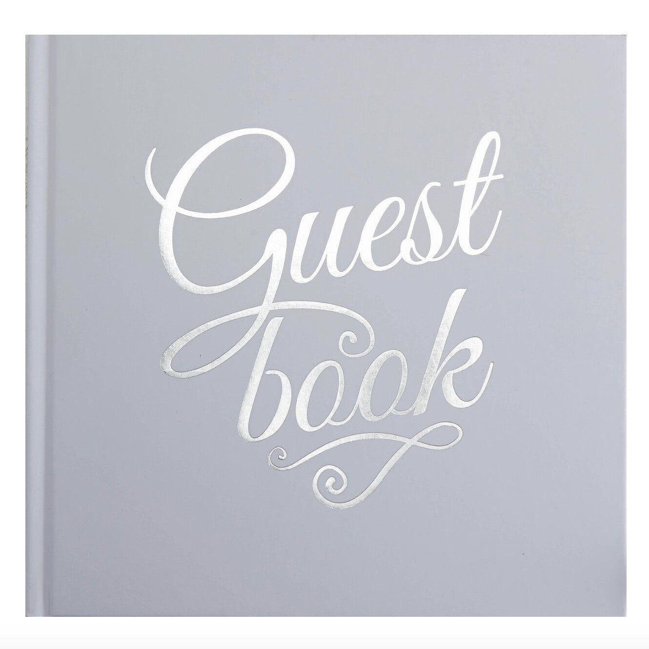 Silver Foiled Guest Book - White, GR-Ginger Ray UK, Putti Fine Furnishings