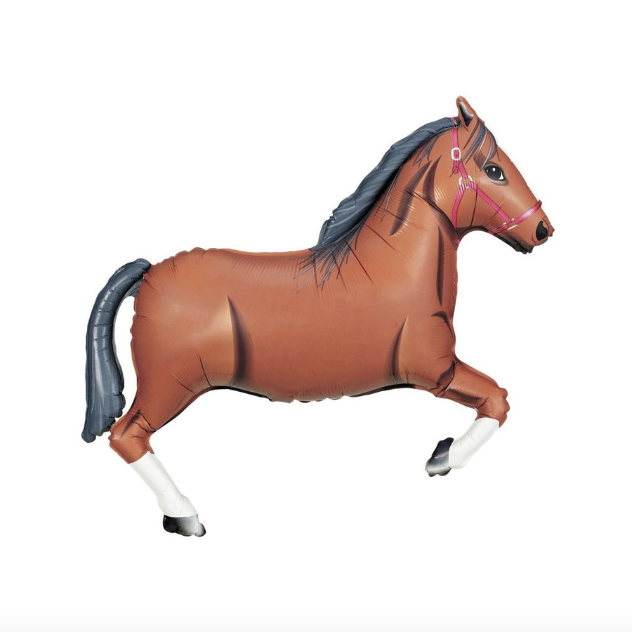 Giant Mylar Horse Balloon - Brown