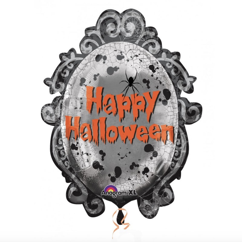 "Spooky ""Happy Halloween"" Mirror  Mylar Halloween Balloon, SE-Surprize Enterprize, Putti Fine Furnishings"