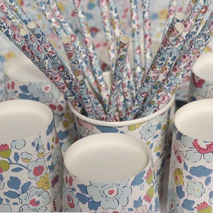 Meri Meri Liberty Betsy - Paper Straws -  Party Supplies - Meri Meri UK - Putti Fine Furnishings Toronto Canada - 1