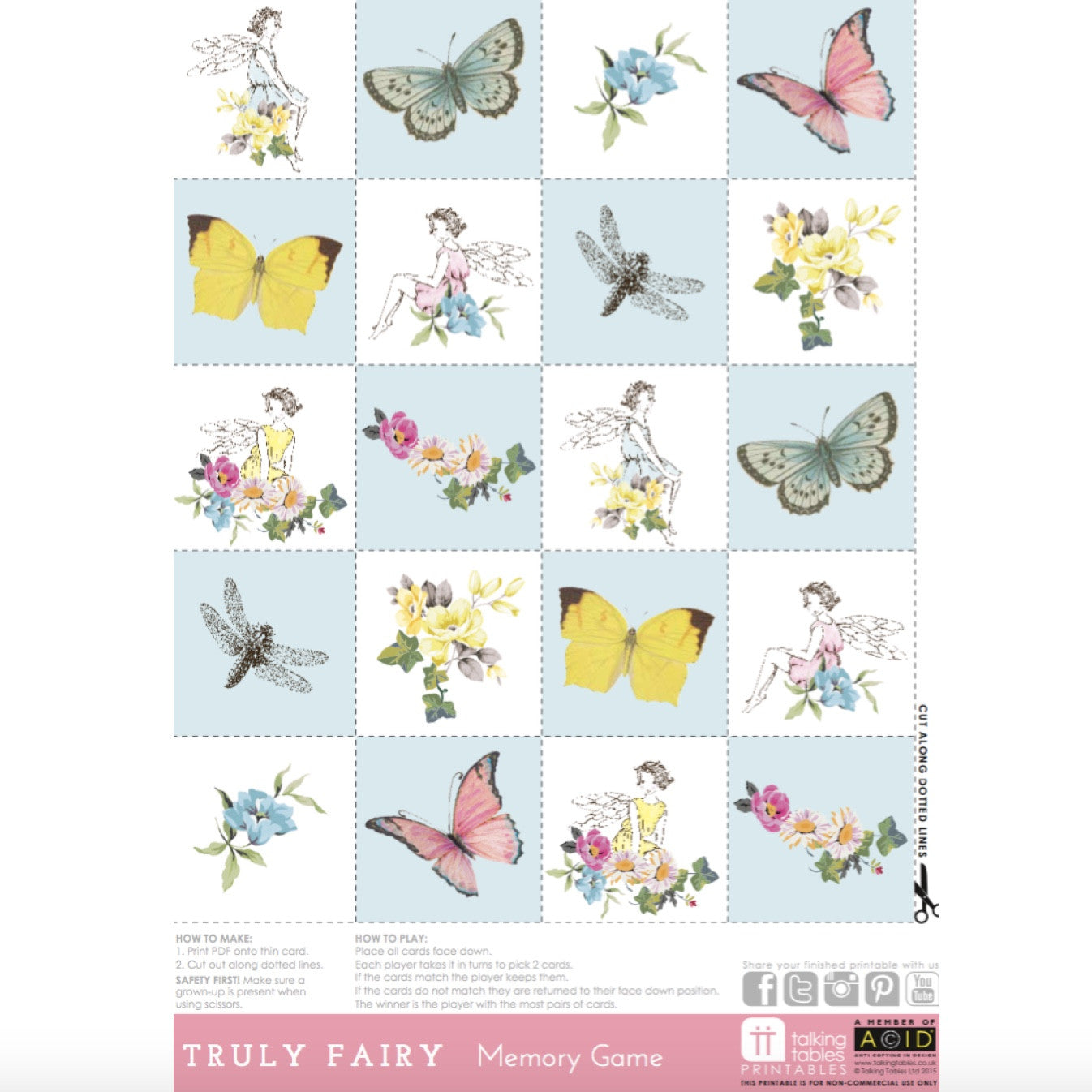 photograph about Printable Memory Cards identify Certainly Fairy\