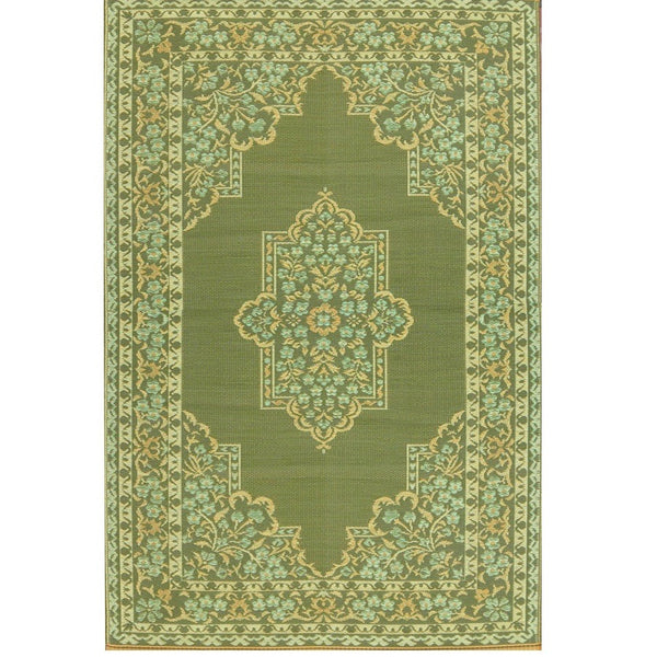 Mad Mats Outdoor Carpet Rug Traditional Bouquet Putti