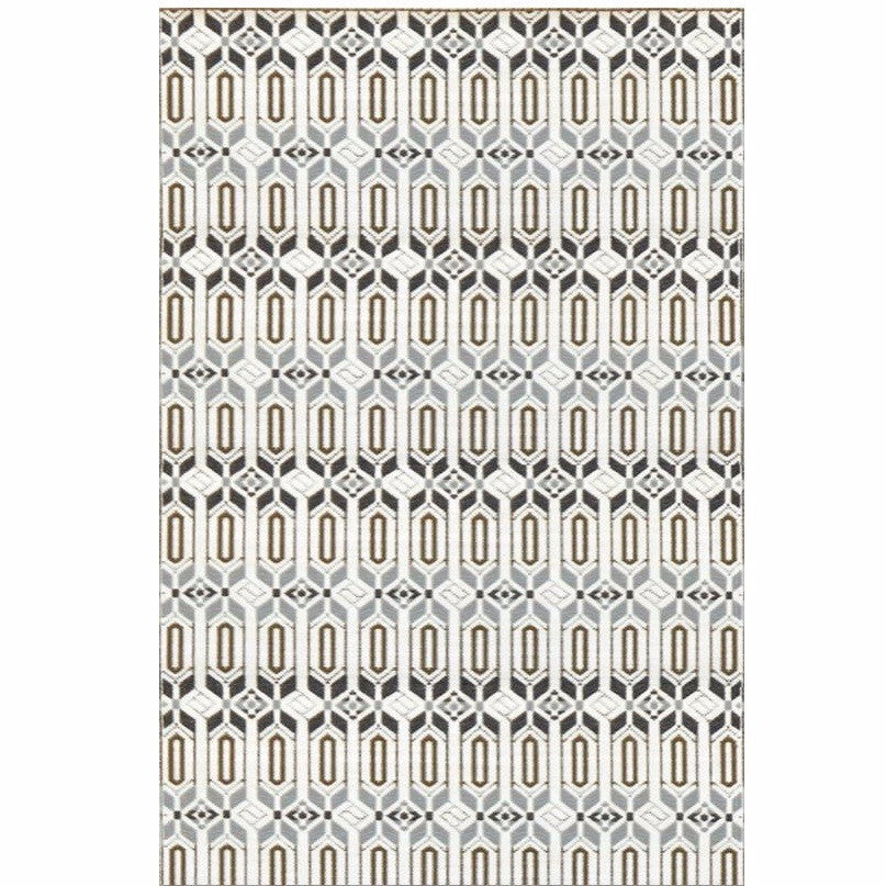 Mad Mats Outdoor Carpet Moroccan-Outdoor Carpets-MMAT-Mad Mats-6' x 9'-Grey White-Putti Fine Furnishings