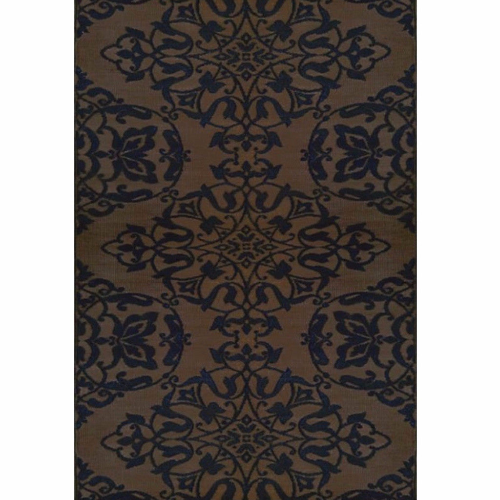 Mad Mats Outdoor Carpet Wrought Iron-Outdoor Carpets-MMAT-Mad Mats-4' x 6'-Black Brown-Putti Fine Furnishings