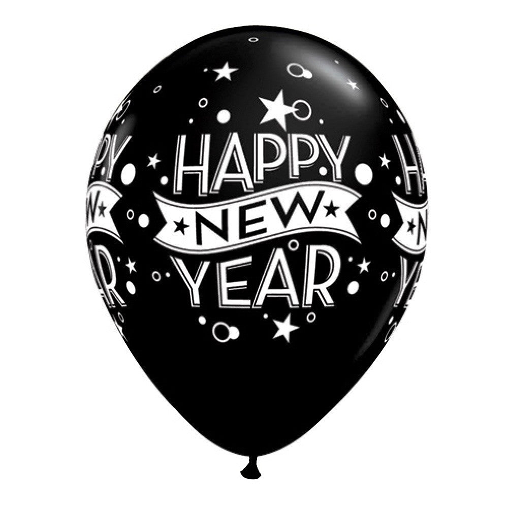 """Happy New Years"" Balloon - Black, SE-Surprize Enterprize, Putti Fine Furnishings"