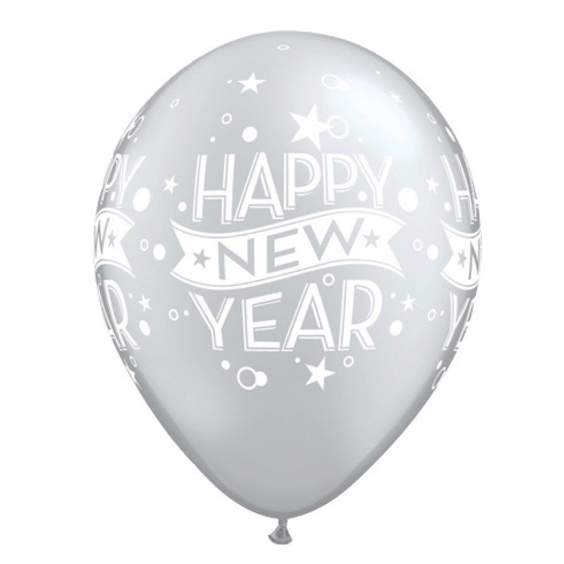 """Happy New Years"" Balloon - Silver, SE-Surprize Enterprize, Putti Fine Furnishings"