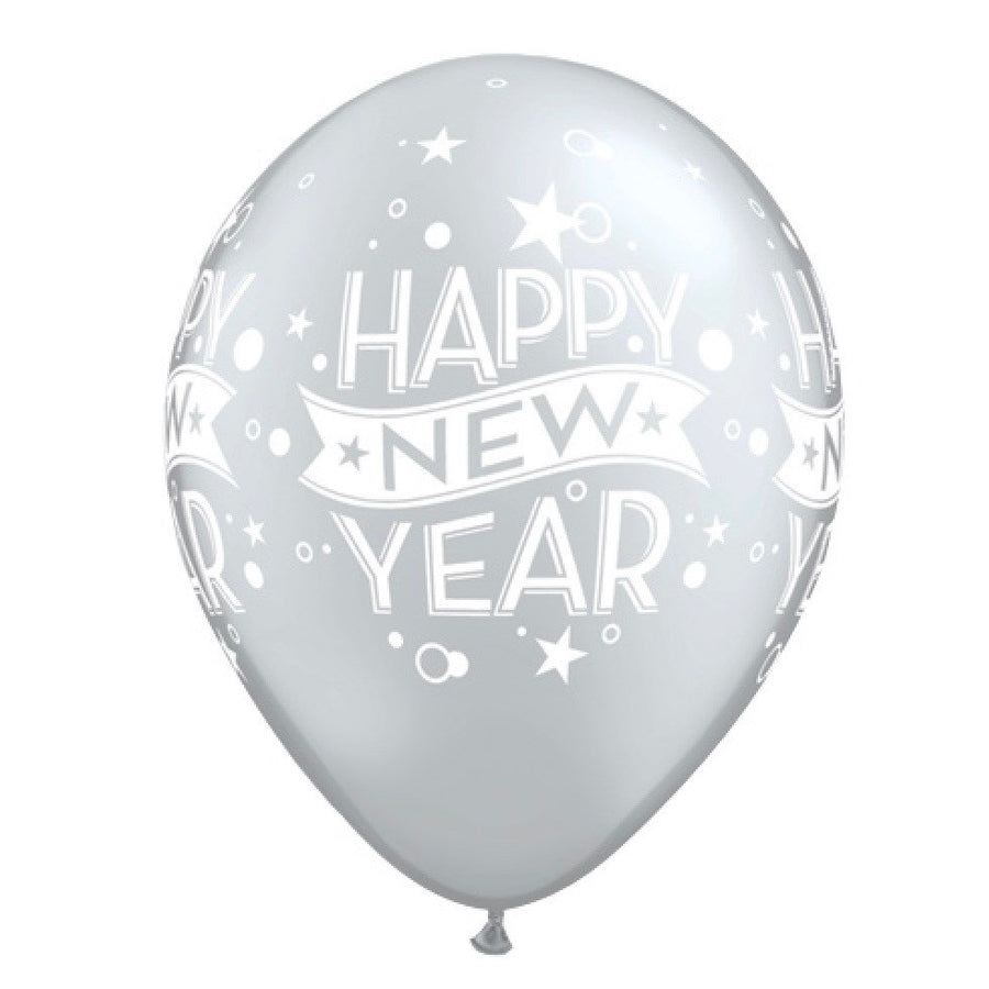 """Happy New Years"" Balloon - Silver"
