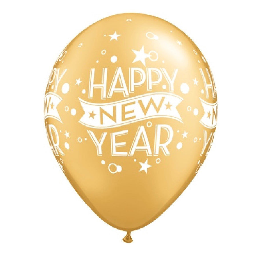 """Happy New Years"" Balloon - Gold"
