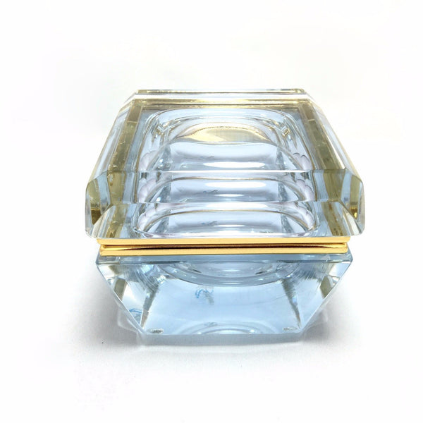 Alessandro Mandruzzato Square Beveled Murano Glass Box in Alessandrite-Venetian Glass-Alessandro Mandruzzato-Putti Fine Furnishings