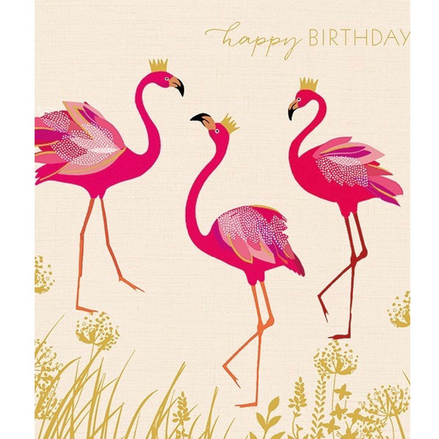 "Flamingo ""Happy Birthday"" Greeting Card"