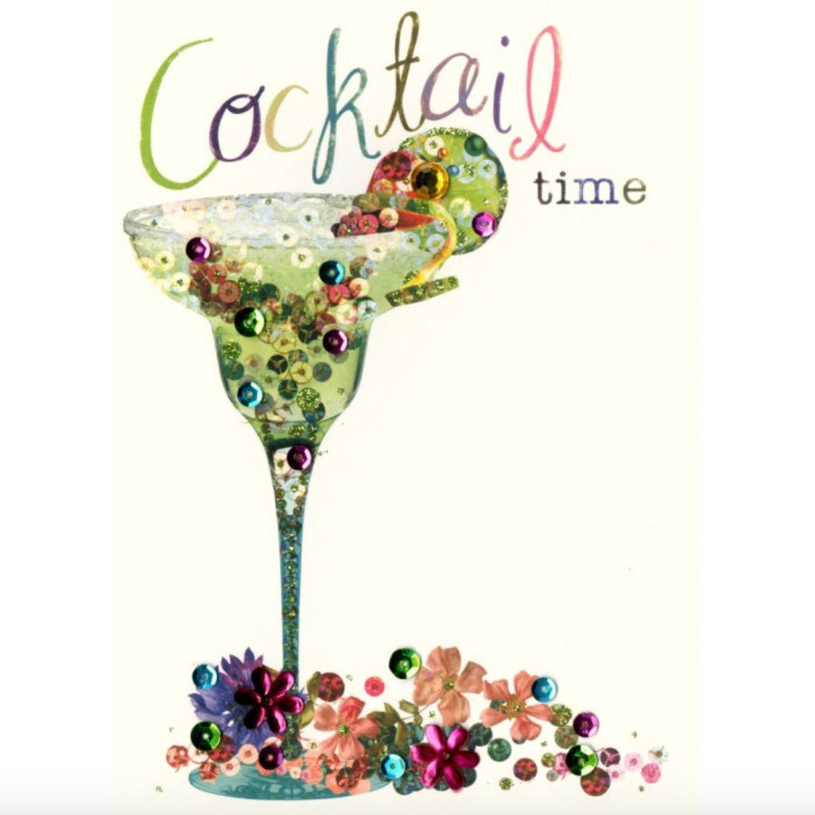 "Martini Glass ""Cocktail Time"" Celebrate Greeting Card"