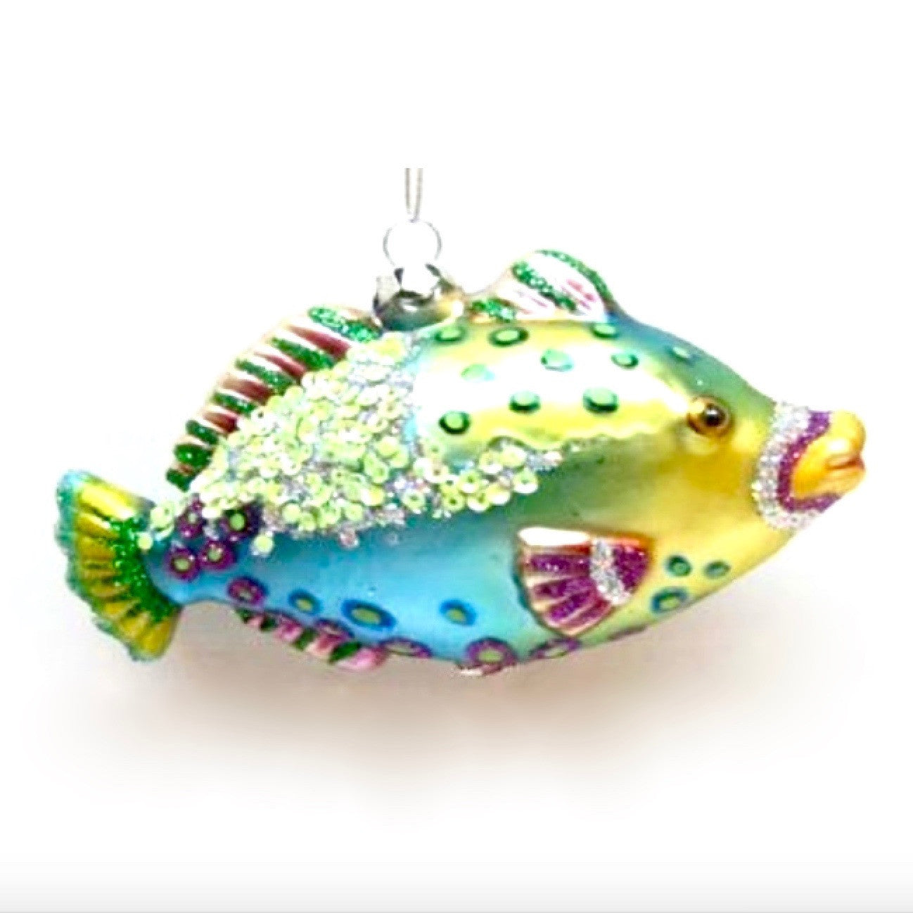 Jim Marvin Tropical Fish Ornament - Turquoise and Green, WCI-Winward Canada, Putti Fine Furnishings