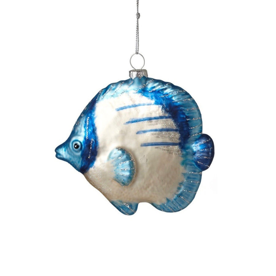Tropical Fish Ornament - Blue & White