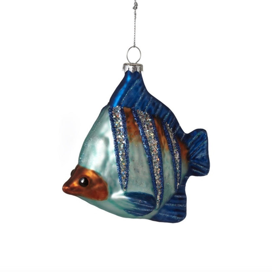 Tropical Fish Ornament - Blue & Orange