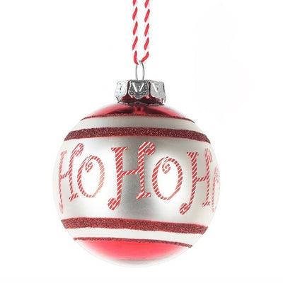 Christmas Text Glass Ornaments - Ho Ho Ho Christmas - Midwest - Putti Fine Furnishings Toronto Canada - 2