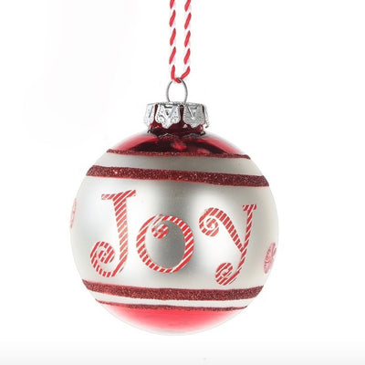 Christmas Text Glass Ornaments - Joy Christmas - Midwest - Putti Fine Furnishings Toronto Canada - 4