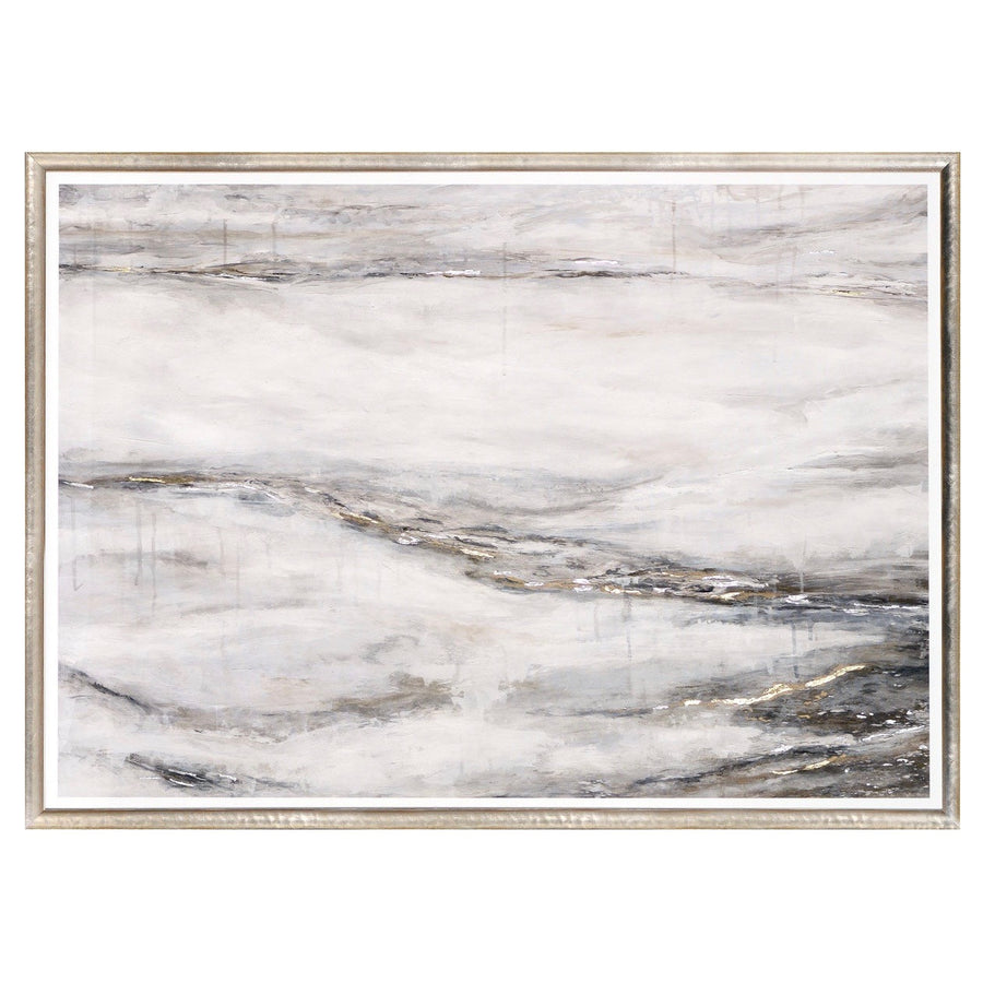 """Alabaster Flow"" Framed Print"