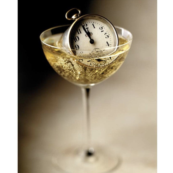 Champagne Glass and Watch New Year Cards - Boxed, JE-Jannex Enterprises, Putti Fine Furnishings
