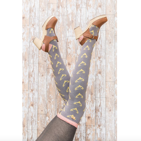 "Powder ""Stag"" Long Socks - Slate-Personal Accessories-PDL-Powder Design Limited-Putti Fine Furnishings"