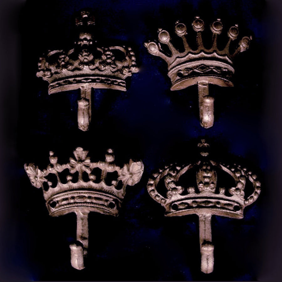 "Wrought Iron ""Crown"" Wall Hook"