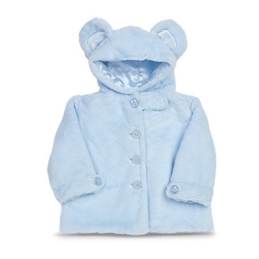"Blue ""Huggie Bear"" - Coat - 6 - 12 months Children's - BC-Bearington Collection - Bella Flor - Putti Fine Furnishings Toronto Canada"