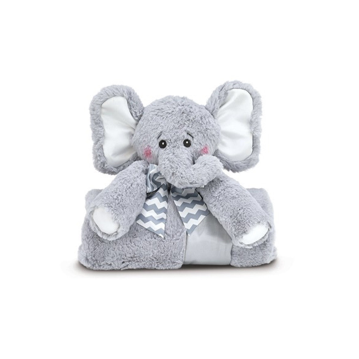 Lil' Spout Elephant - Plush Cuddle Me Blanket -  Children's - BC-Bearington Baby Collection - Bella Flor - Putti Fine Furnishings Toronto Canada - 1