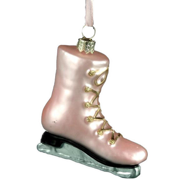 Pink Skate Glass Ornament -  Christmas - ST-Starlight Trading - Putti Fine Furnishings Toronto Canada
