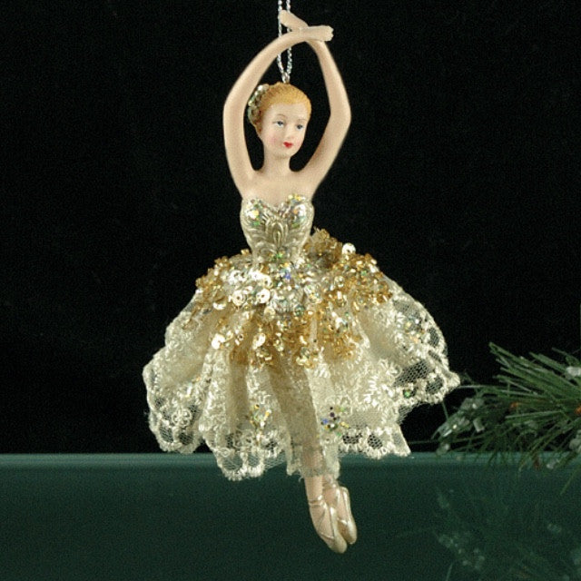 Gold Ballerina Ornament -  Christmas - ST-Starlight Trading - Putti Fine Furnishings Toronto Canada