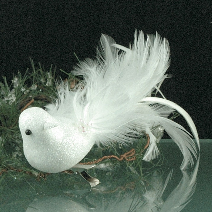 White Feathered Bird with Clip
