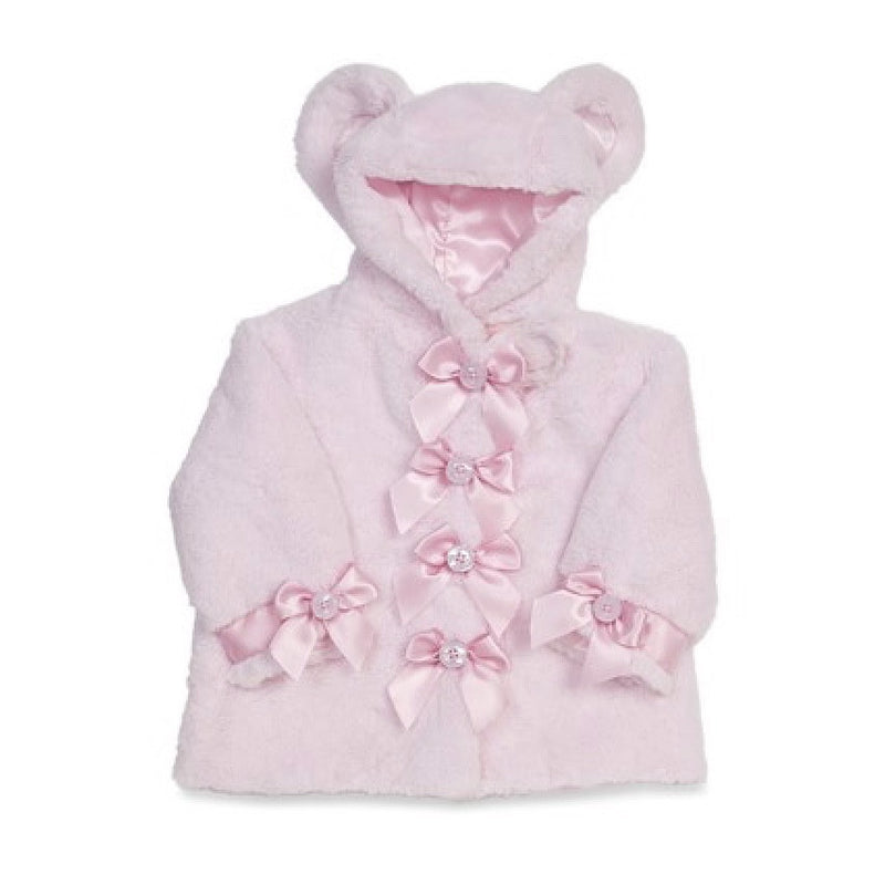 "Pink ""Huggie Bear"" - Coat - 6 - 12 months Children's - BC-Bearington Collection - Bella Flor - Putti Fine Furnishings Toronto Canada"