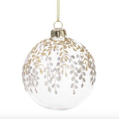 Gold and Silver Trailing Vine Ornament -  Christmas - Floridus Design - Putti Fine Furnishings Toronto Canada