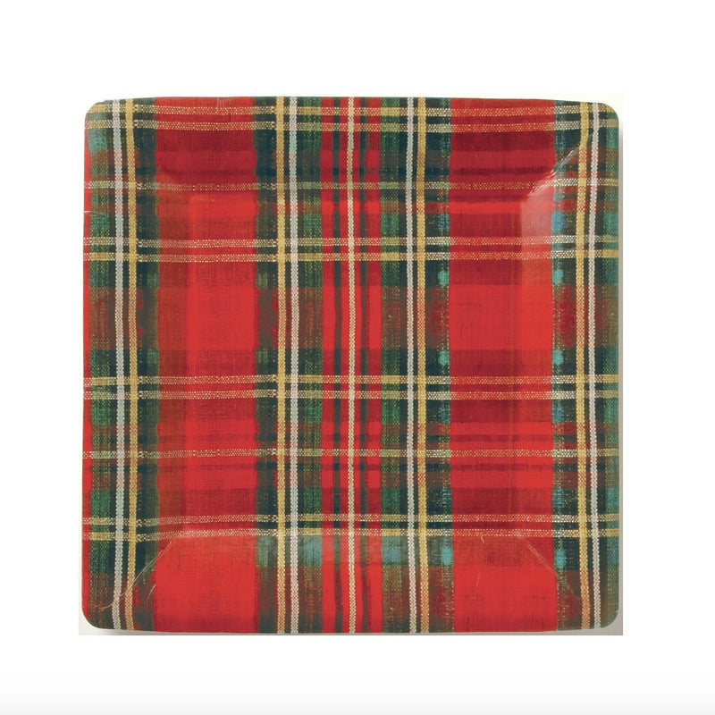 Classic Plaid Paper Plate - Lunch -  Party Supplies - Carsim Trading - Putti Fine Furnishings Toronto Canada
