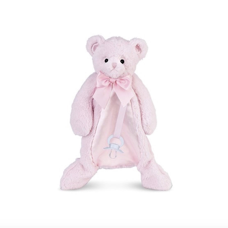 Huggie Bear Pink - Pacifier Pet -  Children's - BC-Bearington Baby Collection - Bella Flor - Putti Fine Furnishings Toronto Canada