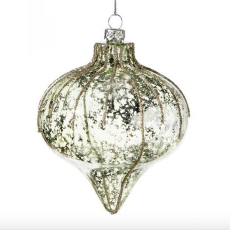 Mottled Pale Green Onion Ornament