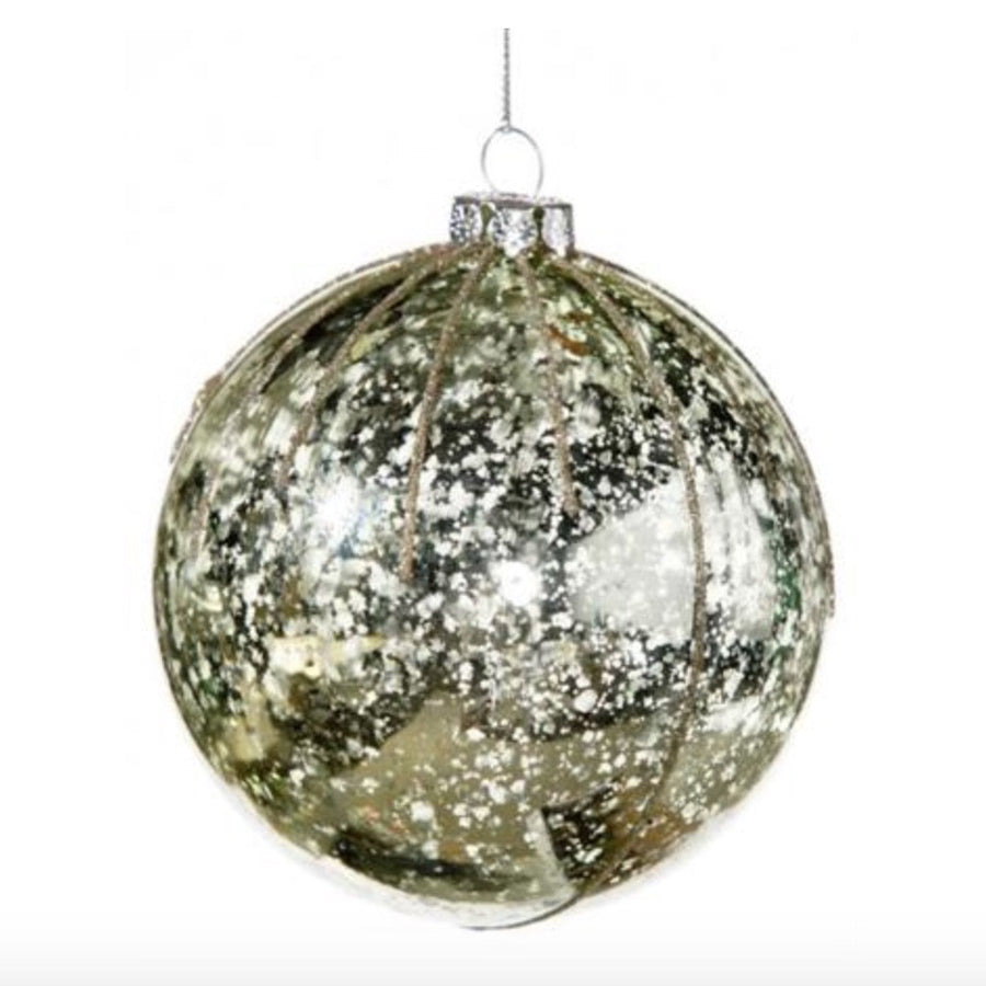 Mottled Pale Green Ball Ornament